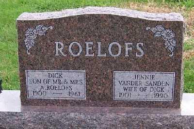 ROELOFS, JENNIE (MRS. DICK) - Sioux County, Iowa | JENNIE (MRS. DICK) ROELOFS