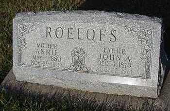 ROELOFS, ANNIE - Sioux County, Iowa   ANNIE ROELOFS
