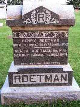 ROETMAN, GERTIE (MRS. HENRY) - Sioux County, Iowa | GERTIE (MRS. HENRY) ROETMAN