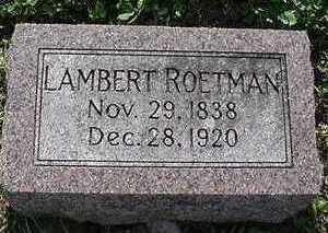 ROETMAN, LAMBERT - Sioux County, Iowa | LAMBERT ROETMAN