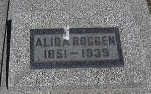 ROGGEN, ALIDA - Sioux County, Iowa | ALIDA ROGGEN