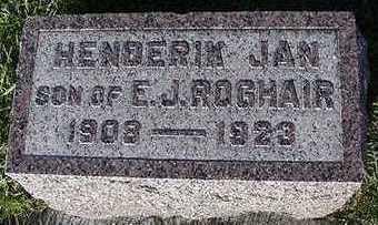 ROGHAIR, HENDRIK JAN - Sioux County, Iowa | HENDRIK JAN ROGHAIR