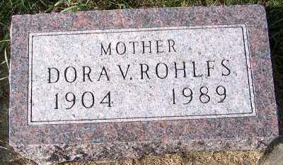 ROHLFS, DORA V. - Sioux County, Iowa | DORA V. ROHLFS