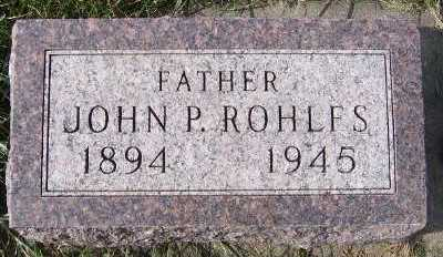 ROHLFS, JOHN P. - Sioux County, Iowa | JOHN P. ROHLFS