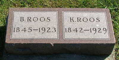 ROOS, B. - Sioux County, Iowa | B. ROOS