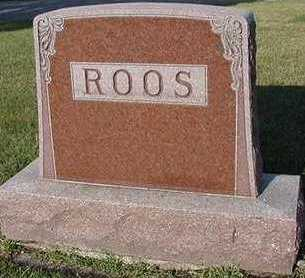 ROOS, HEADSTONE - Sioux County, Iowa   HEADSTONE ROOS