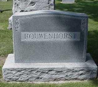 ROUWENHORST, HEADSTONE - Sioux County, Iowa   HEADSTONE ROUWENHORST
