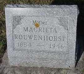 ROUWENHORST, MARGRIETA - Sioux County, Iowa   MARGRIETA ROUWENHORST