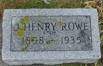 ROWE,  J. HENRY - Sioux County, Iowa    J. HENRY ROWE