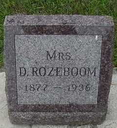 ROZEBOOM, D. MRS. - Sioux County, Iowa | D. MRS. ROZEBOOM
