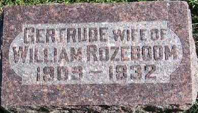 ROZEBOOM, GERTRUDE (MRS. WILLIAM) - Sioux County, Iowa | GERTRUDE (MRS. WILLIAM) ROZEBOOM