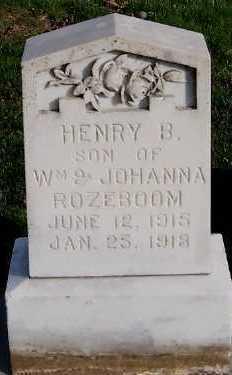 ROZEBOOM, HENRY B. (1915-1918) - Sioux County, Iowa | HENRY B. (1915-1918) ROZEBOOM