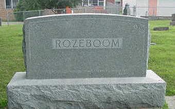 ROZEBOOM, HEADSTONE - Sioux County, Iowa   HEADSTONE ROZEBOOM