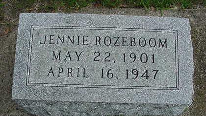 ROZEBOOM, JENNIE - Sioux County, Iowa | JENNIE ROZEBOOM