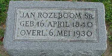 ROZEBOOM, JAN SR. - Sioux County, Iowa | JAN SR. ROZEBOOM