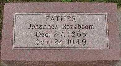 ROZEBOOM, JOHANNES - Sioux County, Iowa | JOHANNES ROZEBOOM