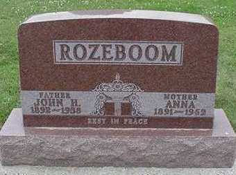 ROZEBOOM, JOHN H. - Sioux County, Iowa   JOHN H. ROZEBOOM