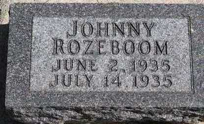 ROZEBOOM, JOHNNY - Sioux County, Iowa | JOHNNY ROZEBOOM