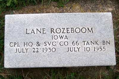 ROZEBOOM, LANE - Sioux County, Iowa | LANE ROZEBOOM