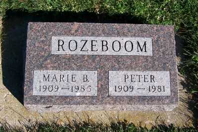 ROZEBOOM, PETER - Sioux County, Iowa | PETER ROZEBOOM