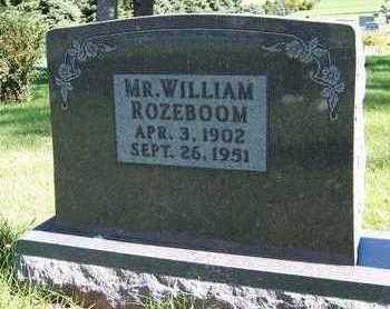 ROZEBOOM, WILLIAM - Sioux County, Iowa | WILLIAM ROZEBOOM