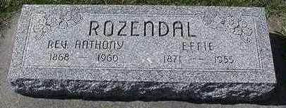 ROZENDAL, EFFIE (MRS. ANTHONY) - Sioux County, Iowa | EFFIE (MRS. ANTHONY) ROZENDAL