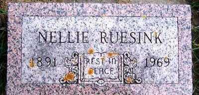 RUESINK, NELLIE - Sioux County, Iowa   NELLIE RUESINK