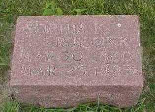 RUESINK, SOPHIA K. - Sioux County, Iowa | SOPHIA K. RUESINK