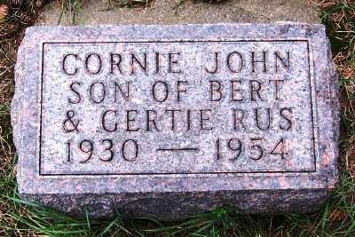 RUS, CORNIE JOHN - Sioux County, Iowa | CORNIE JOHN RUS