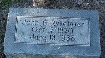 RYKEBOER, JOHN G. - Sioux County, Iowa | JOHN G. RYKEBOER