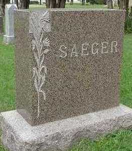 SAEGER, HEADSTONE - Sioux County, Iowa | HEADSTONE SAEGER