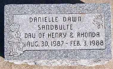 SANDBULTE, DANIELLE DAWN - Sioux County, Iowa | DANIELLE DAWN SANDBULTE