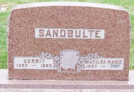 SANDBULTE, GERRIT - Sioux County, Iowa   GERRIT SANDBULTE
