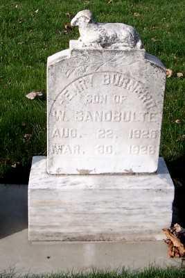 SANDBULTE, HENRY BURNERD - Sioux County, Iowa | HENRY BURNERD SANDBULTE