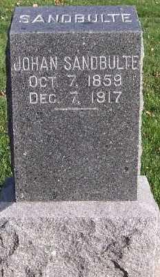 SANDBULTE, JOHAN - Sioux County, Iowa | JOHAN SANDBULTE