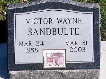 SANDBULTE, VICTOR WAYNE - Sioux County, Iowa | VICTOR WAYNE SANDBULTE