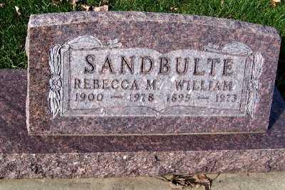 SANDBULTE, REBECCA - Sioux County, Iowa   REBECCA SANDBULTE