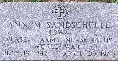SANDSCHULTE, ANN M. - Sioux County, Iowa | ANN M. SANDSCHULTE