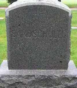 SANDSCHULTE, HEADSTONE - Sioux County, Iowa   HEADSTONE SANDSCHULTE