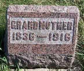 SAS, GRANDMOTHER - Sioux County, Iowa | GRANDMOTHER SAS