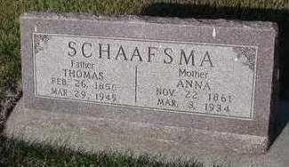 SCHAAFSMA, THOMAS - Sioux County, Iowa | THOMAS SCHAAFSMA