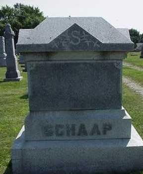 SCHAAP, HEADSTONE - Sioux County, Iowa   HEADSTONE SCHAAP