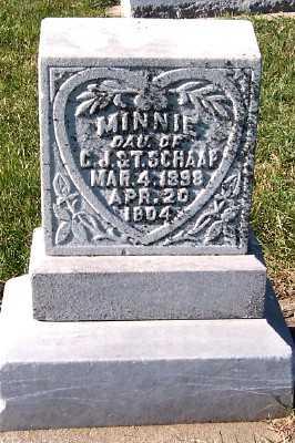 SCHAAP, MINNIE (DAU OF C.J.&T.) - Sioux County, Iowa | MINNIE (DAU OF C.J.&T.) SCHAAP