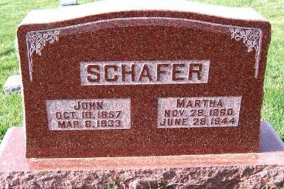 SCHAFER, MARTHA - Sioux County, Iowa | MARTHA SCHAFER