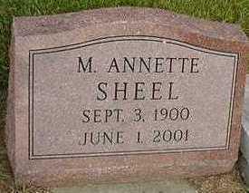 SCHEEL, M. ANNETTE - Sioux County, Iowa   M. ANNETTE SCHEEL