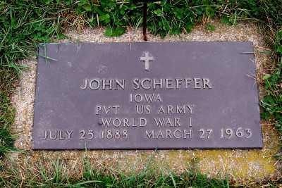 SCHEFFER, JOHN - Sioux County, Iowa   JOHN SCHEFFER