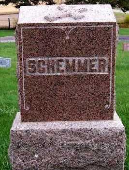 SCHEMMER, HEADSTONE - Sioux County, Iowa | HEADSTONE SCHEMMER
