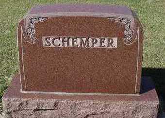 SCHEMPER, HEADSTONE - Sioux County, Iowa | HEADSTONE SCHEMPER