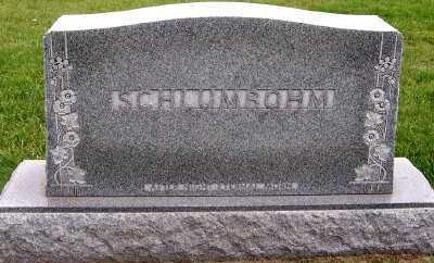 SCHLUMBOHM, HEADSTONE - Sioux County, Iowa | HEADSTONE SCHLUMBOHM