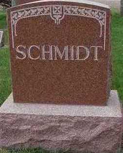 SCHMIDT, HEADSTONE - Sioux County, Iowa | HEADSTONE SCHMIDT
